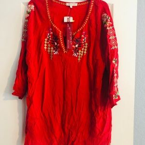 Gorgeous embroidered boho top